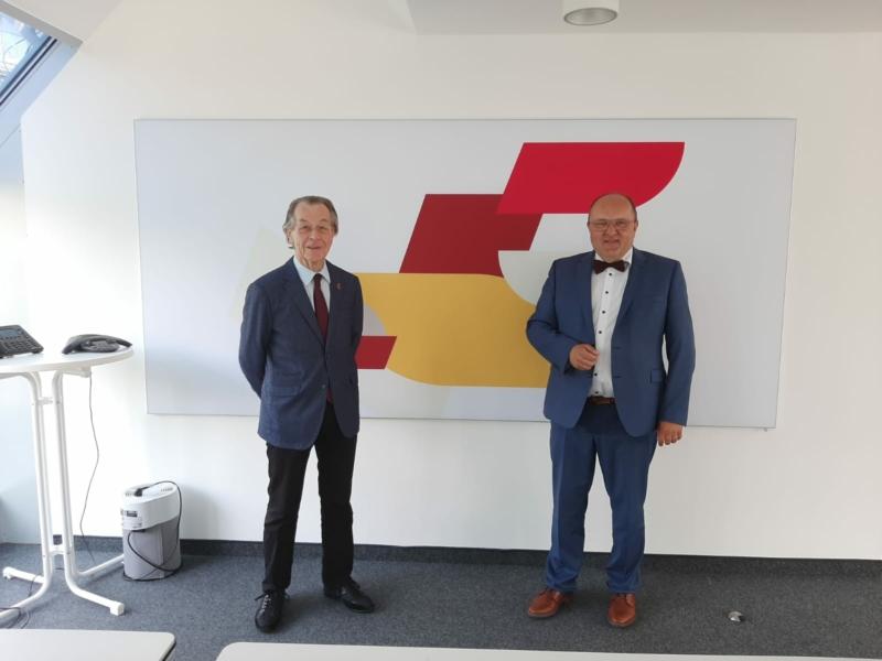Franz Müntefering im Gespräch mit Prof. Dr. Alexander Schraml